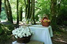 Una boda campestre http://www.omendu.com/p/es/blog/la-boda-de-xr-una-boda-en-el-bosque.php