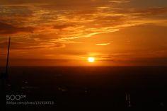 Abendrot in Holland 12 by dirkwiemann  Abendrot Holland Original Sonnenuntergang Windenergie Windkraft Windmühle Windrad ohne Bildbearbeitu