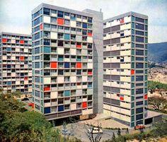 Unidad residencial El Paraíso, Caracas  Carlos Raúl Villanueva, 1951
