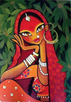 40 Beautiful And Interesting Indian Paintings 40 Beautiful And Interesting Indian Paintings - Bored Art Rajasthani Painting, Art Painting, Indian Art Paintings, Tribal Art, Madhubani Art, Illustration Art, Art, Madhubani Painting, Folk Art Painting