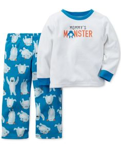 Carter's Baby Boys' 2-Piece Mommy's Monster Pajamas