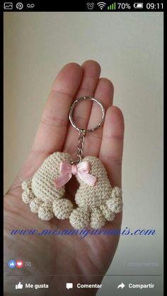 Pies a crochet