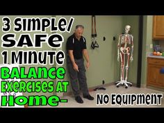 """""""Famous"""" Physical Therapists Bob Schrupp and Brad Heineck present: 3 Simple/Safe 1 Minute Balance Exercises At Home- No Equipment ALERT: Bob and Brad's new i. Senior Fitness, Yoga Fitness, Fitness Tips, Health Fitness, Physical Therapy Career, Balance Exercises, Chair Exercises, Occupational Therapy Activities, Squat Workout"""