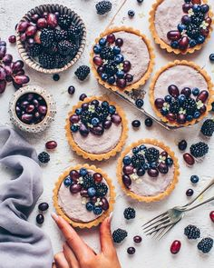 These easy vegan no-bake Blackberry Mousse Tarts come together in only 10 minutes and they're so delicious! It's a simple no-bake cake made from a no-bake oreo cookie crust and creamy blackberry blueberry mousse filling. Tart Recipes, Sweet Recipes, Vegan Recipes, Dessert Recipes, Canapes Recipes, Amish Recipes, Dutch Recipes, Fancy Desserts, Summer Desserts