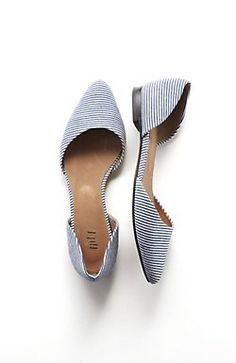 striped d'Orsay flats