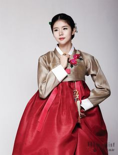 Hanbok, korean traditional clothes / My wedding / 꽃, 수줍게 봉오리 맺다 / 비단 빔