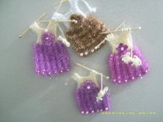 Tree Branches, Crochet Earrings, Art Pieces, Miniatures, Christmas Ornaments, Knitting, Holiday Decor, Elsa, How To Make