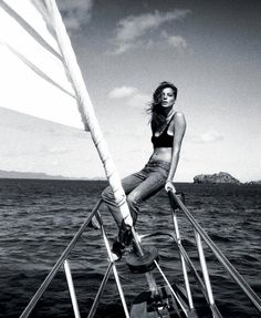 Girl Overboard – Daria Werbowy reunites with Cass Bird for a free-spirited shoot set in vacation hot spot, St. Bart's. Captured for T Magazine's summer travel edition, Daria looks amazing in swimwear and tees from the likes of Alexander Wang, Isabel Marant and Dior Homme styled by Sara Moonves.    T Magazine: Girl Overboard