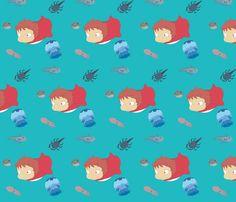 Ponyo fabric