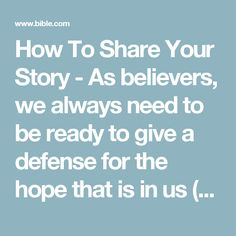 How To Share Your Story - As believers, we always need to be ready to give a defense for the hope that is in us (1 Peter 3:15). Sadly, many of us are crippled by fear and self-doubt when it comes to sharing our faith. In this 7-day video devotional, Pastor and Evangelist Miles McPherson will teach you to share your powerful story of faith with confidence.
