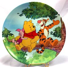 """Bradford Exchange Co. ~ Winnie The Pooh: Fun In 100 Acre Woods Collector Plate ~ """"Tree Top Trio""""."""
