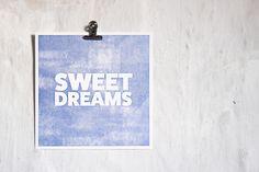 Letterpress Print Sweet Dreams