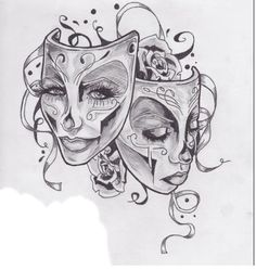 Tattoo I'm getting to represent my theatre. Well, something like this. So pretty~