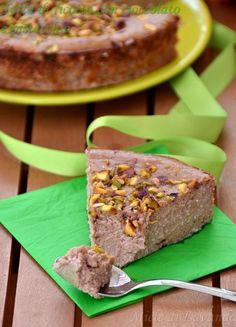 Torta di ricotta con cioccolato e pistacchio