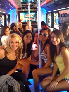 Bachelorette Party Planning 101 - Know why these lovely ladies are all smiling? They knew how much this party bus would cost ahead of time. And they prepaid the maid of honor!