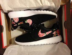 Nike Roshe Run One Black with Custom Pink Red by DenisCustoms