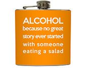 Funny Alcohol Definition Flask Liquid Courage Groomsmen Guys 21st Birthday Gift Stainless Steel 8 oz or 6 oz Liquor Hip Flask LC-1119