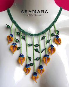Huichol Jewelry set Mexican Necklace Huichol earrings Boho | Etsy