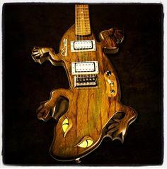 Custom Komodo Dragon Guitar  - Follow @Musical Harvest and visit www.musicalharvest.com. Guitar quotes start at $1000 - email guitars@musicalharvest.com for your custom design quote today.