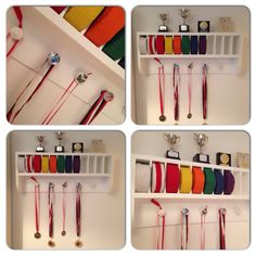 Great storage & display for medals, belts & trophies. Kung fu, karate, judo etc. Made by RonJohn Home Improvements.