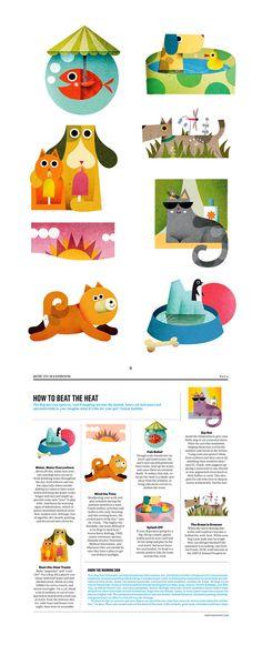 Spot illustrations for Martha Stewart Living Magazine on Illustration Served