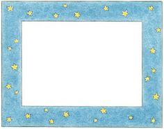 Marcos con estrellas para imprimir-Imagenes y dibujos para imprimir