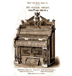 Taylor & Farley - 1M Six Octave Organ. Style F Case with Top A