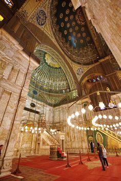 Dans la grande mosquée Muhammad Ali   Cairo Egypt