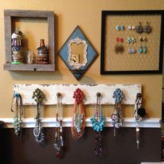 I can probably make this myself... Need to try. Jewelry organizer http://www.silvertribe.com