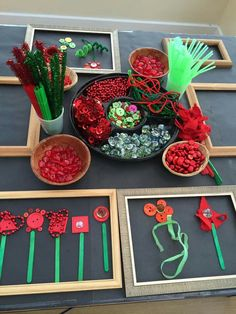 Red and Green Loose Parts Play for Anzac Day. day Red and Green Loose Parts Play for Anzac Day. Reggio Emilia, Remembrance Day Activities, Remembrance Day Art, Nursery Activities, Preschool Activities, Poppy Activities For Toddlers, Kindergarten Art, Preschool Art, Early Childhood Education