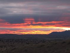 New Mexico Sunrise, outside Albuquerque.  frontiertraveler.com
