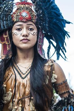 Nahuatl (Aztec) Traditional Woman from Mexico City