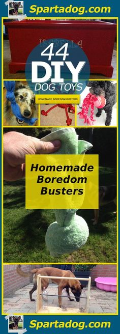 44 Really Cool Homemade DIY Dog Toys Your Dog Will Love at Spartadog.com: