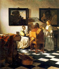 Vermeer's The Concert which was stolen from the Isabella Stewart Gardner Museum in 1990. Its whereabouts are still unknown.