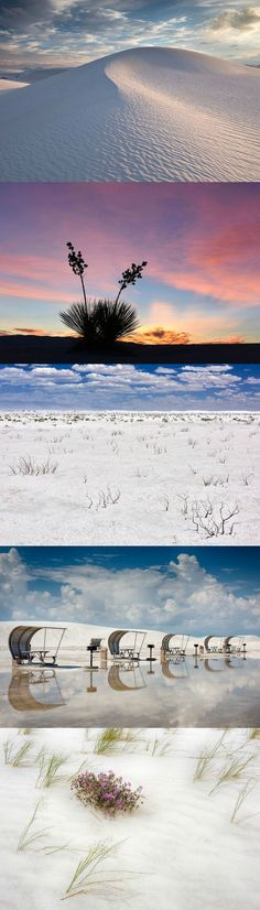 The gypsum dunes of White Sands National Monument in New Mexico.