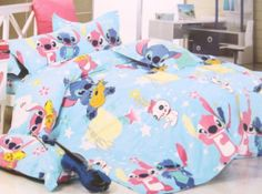2014-New-Disney-Lilo-Stitch-Bedding-Set-4pc-for-Queen-King-Bed-Cotton-RARE