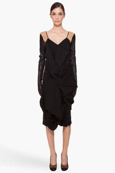 margiela black glove dress