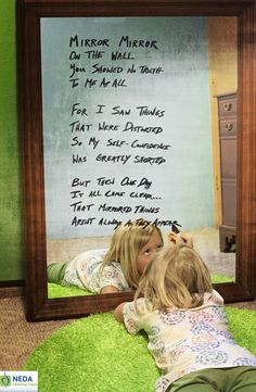 Mirror, mirror on the wall . . . Learn to value yourself and believe in your own beauty. #edrecovery