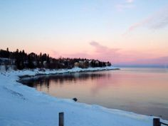 #MSPGetaway Even after this long winter we have had; this looks perfect :) Winter sunset at Bluefin Bay Resort in Tofte, MN