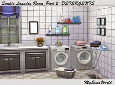 The Sims 4 | melins sim world: Laundry Room misc deco new objects buy mode