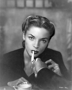 Bacall. One of the women who made me want to be a BROAD!  I love her style, voice  and face!