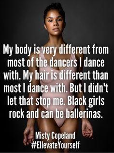 Misty Copeland- I am not a black dancer but fully support ✊✊ Black Girls Rock, Black Love, Black Is Beautiful, Black Girl Magic, Ballet Beautiful, Black Dancers, Ballet Dancers, Hip Hop, Zumba