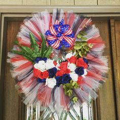 A personal favorite from my Etsy shop https://www.etsy.com/listing/289485957/4th-of-july-wreath-memorial-day-wreath