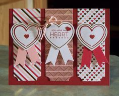 Handmade Valentine's Day Card - You Have My Heart! Made using the 2015 January Paper Pumpkin Kit by Stampin' Up.
