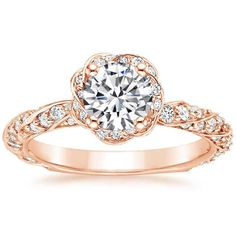 14K Rose Gold Cordoba Diamond Ring from Brilliant Earth