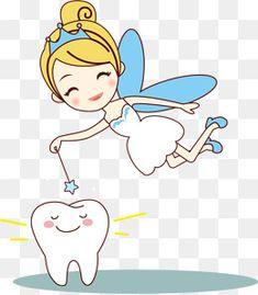 Vector pintado pequeña hada de los dientes, Vector, Pintado A Mano, Pequeña Hada De Los Dientes PNG y Vector