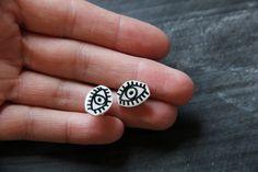 Eyeball Earrings by ModernGirlBlitz on Etsy