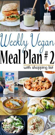 Weekly Vegan Meal Plan and Shopping List