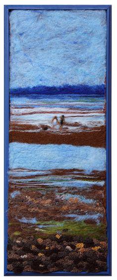 Fibre art by Alison Murphy. Wool.