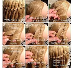 waterfall braid...how to